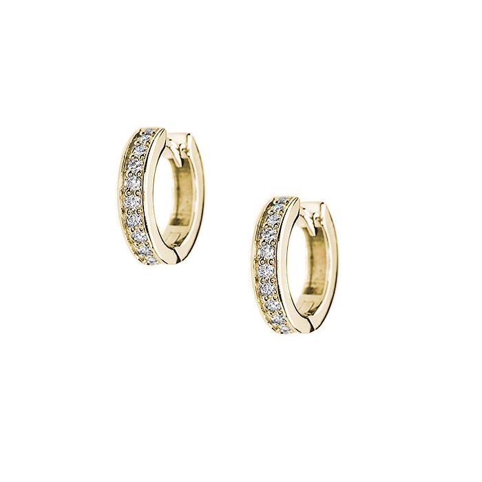 Серьги в желтом золоте Селена с бриллиантами 000079152