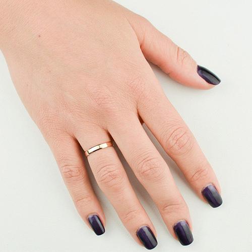 Золотое обручальное кольцо Классика 000036309 000036309
