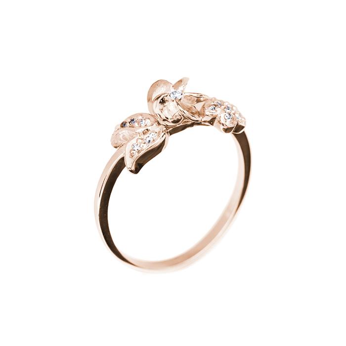 Кольцо в красном золоте Libra с бриллиантами 000079233