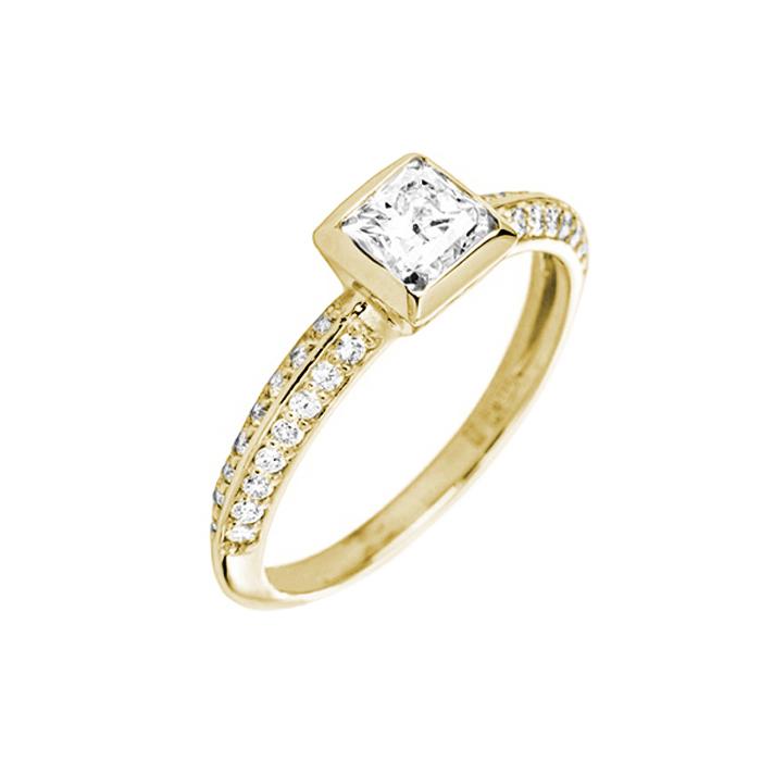 Кольцо в желтом золоте Ориеста с бриллиантами 000079344