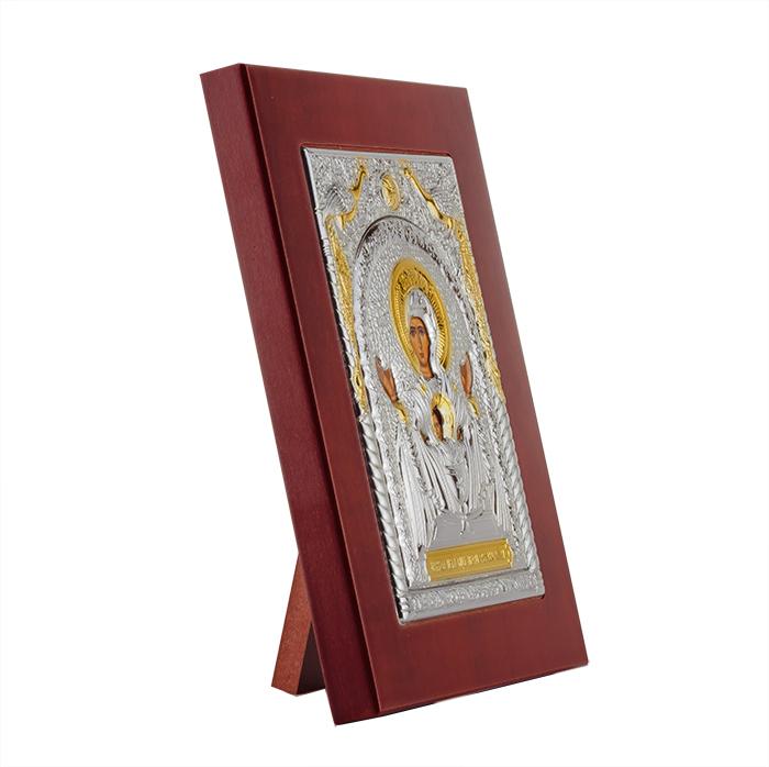 Икона Неупиваемая Чаша на деревянной основе, 18х23см 000061932