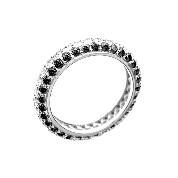 Кольцо в белом золоте Ливадия с бриллиантами 000079280