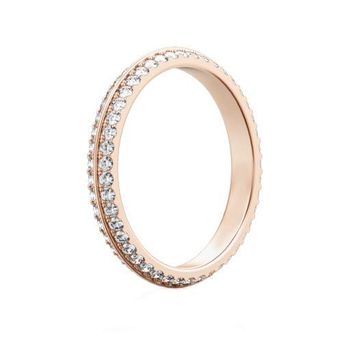 Обручальное кольцо из розового золота с бриллиантами Вершина моей мечты 97