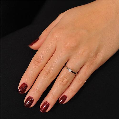 Кольцо из белого золота Изыск с бриллиантом EDM--КД7464_1