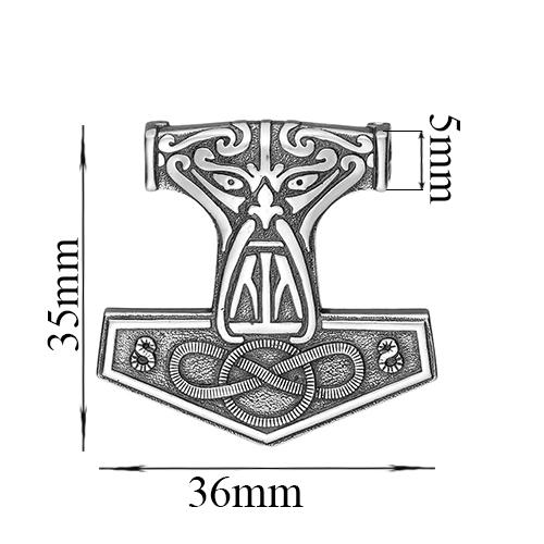 Серебряный подвес-оберег Молот Перуна 000043073