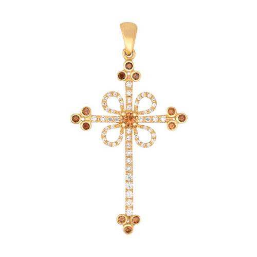 Золотой крестик Любовь VLT--ТТ3355-1