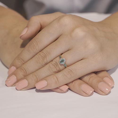 Золотое кольцо Аделаида в комбинированном цвете с изумрудами и бриллиантами KBL--К1836/крас/изум