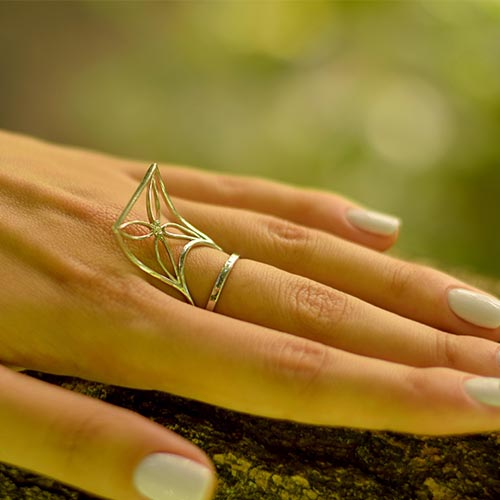 Серебряное кольцо с цирконием Kite 000029266