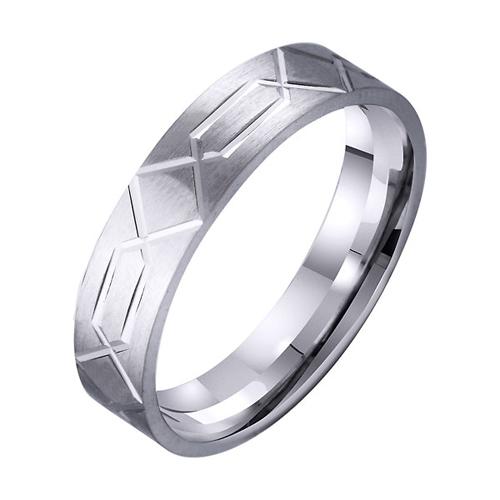 Обручальное кольцо из белого золота Истинные чувства TRF--4211135