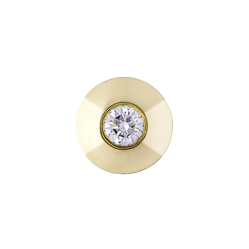 Золотой кулон Соландж в желтом цвете с бриллиантом KBL--П095/жел/брил