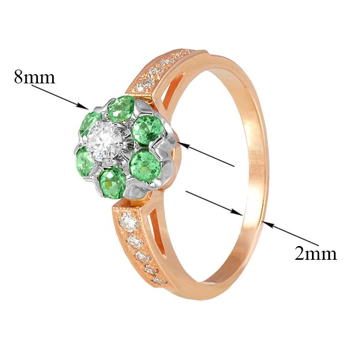 Золотое кольцо с изумрудами и бриллиантами Джозефа EDM--КД7432СМАРАГД