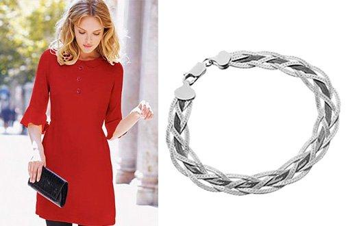 Женский браслет из серебра