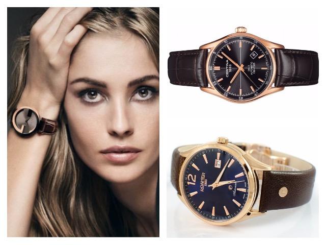 Женские наручные часы с круглым циферблатом