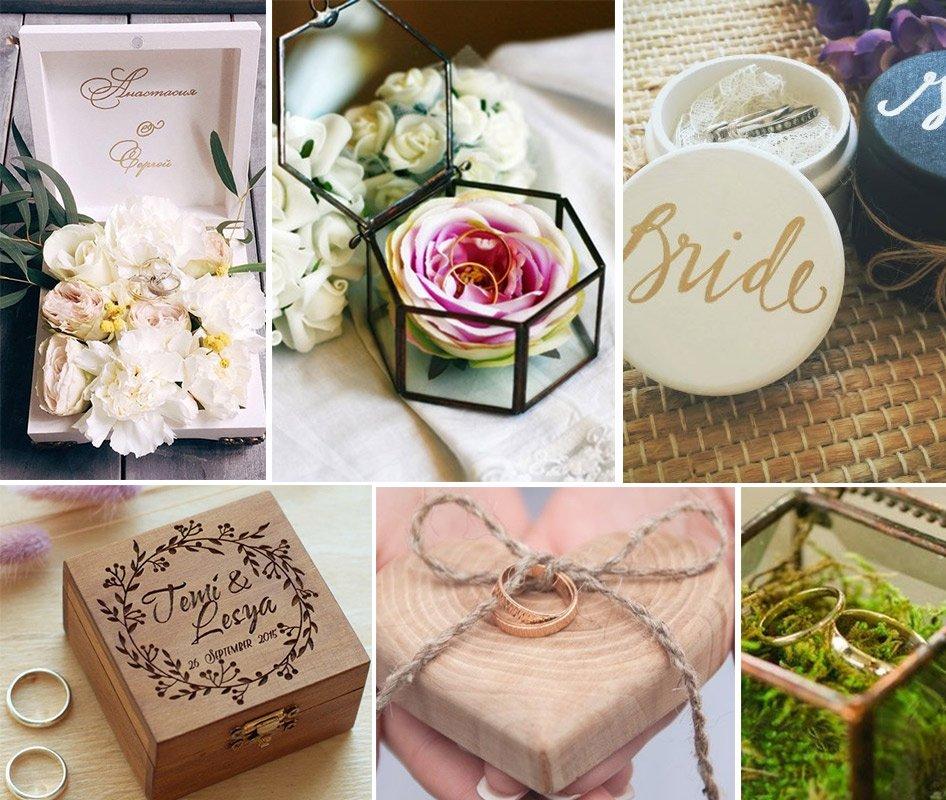Коробки для свадебных колец
