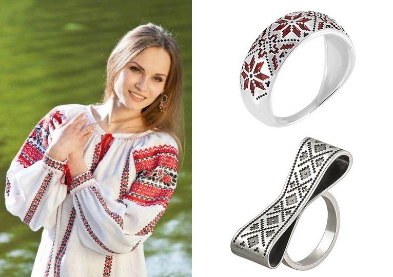 Серебряные кольца в стиле