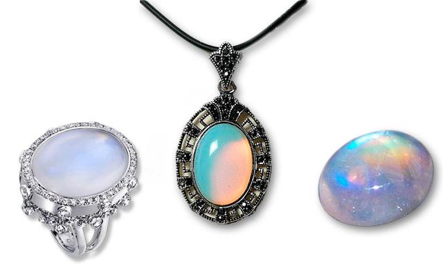 Ювелирные изделия с лунным камнем