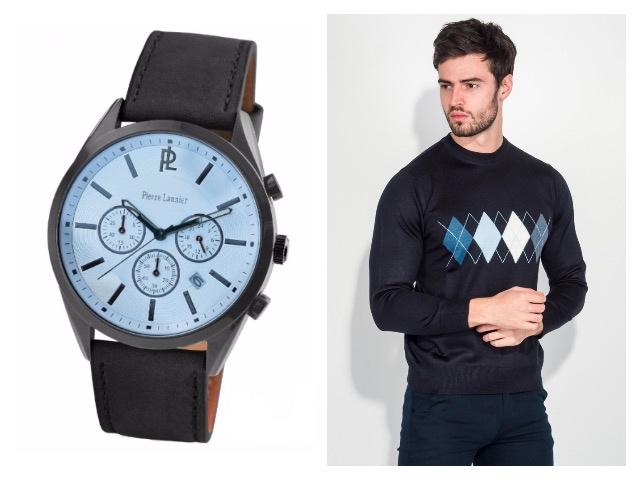 Мужские часы с кожаным браслетом