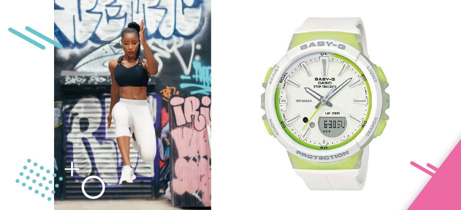 Белые спортивные часы для бега