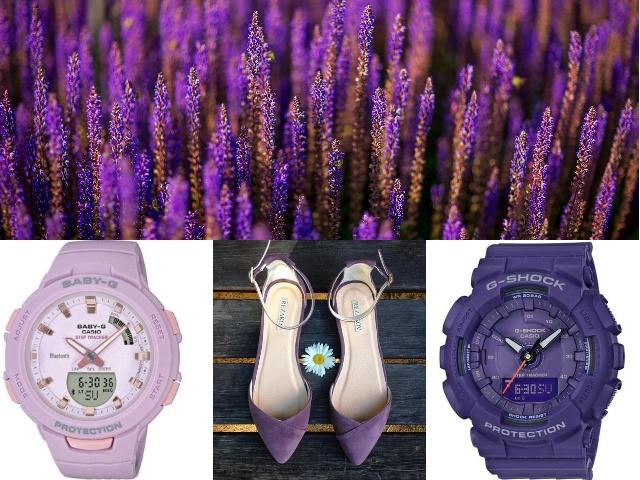 Фиолетовые часы на руку