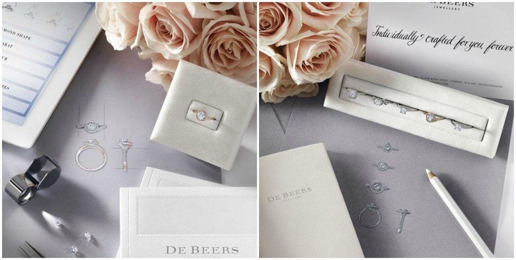 Кольца с бриллиантами от De Beers