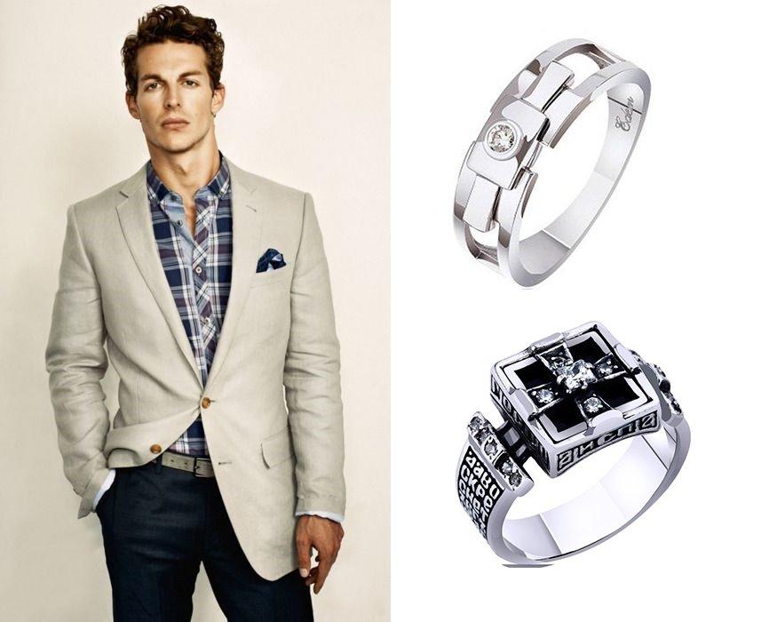 Мужские кольца-печатки