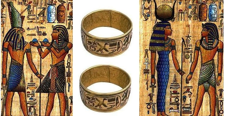 Кольца на рисунках древних египтян