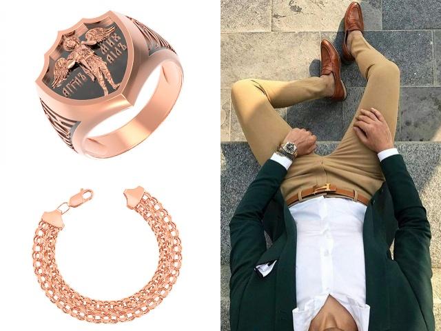 Изделия для мужчин из золота