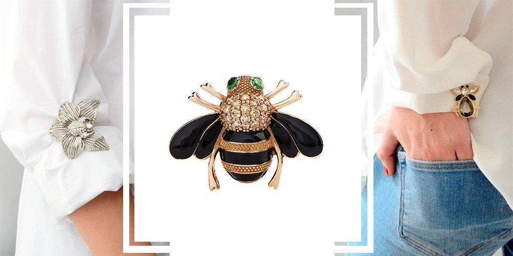 Брошь в виде пчелы