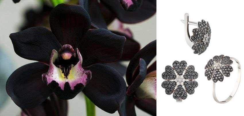 Изделия с черными бриллиантами