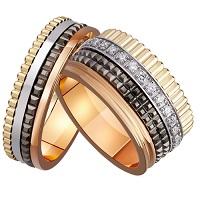 Золотые обручальные кольца для двоих