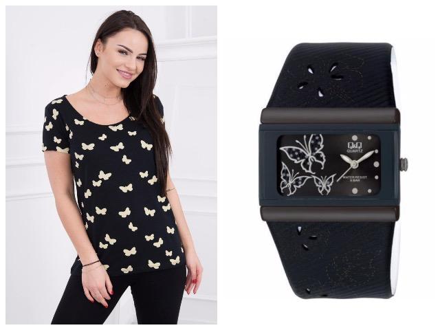 Часы черного цвета