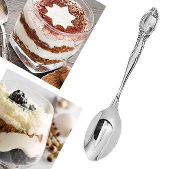 Серебряная десертная ложка