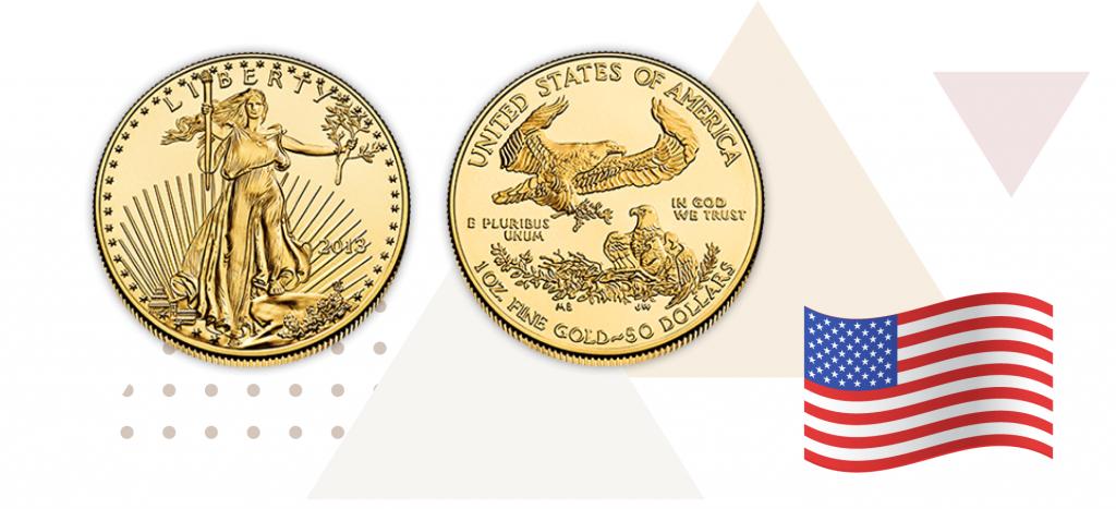 Золотая монета США