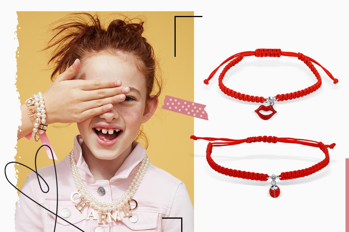 браслет красная нить для ребенка