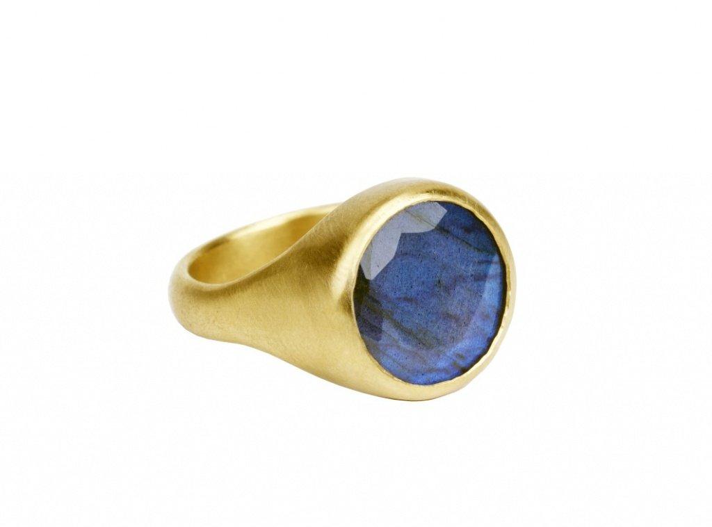 Мужское кольцо с лабрадоритом от Эли Халили