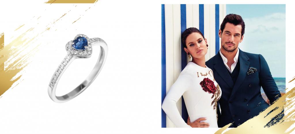 Кольцо с бриллиантами сердце
