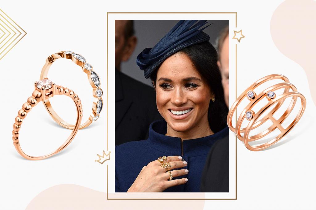 Золотые тонкие кольца