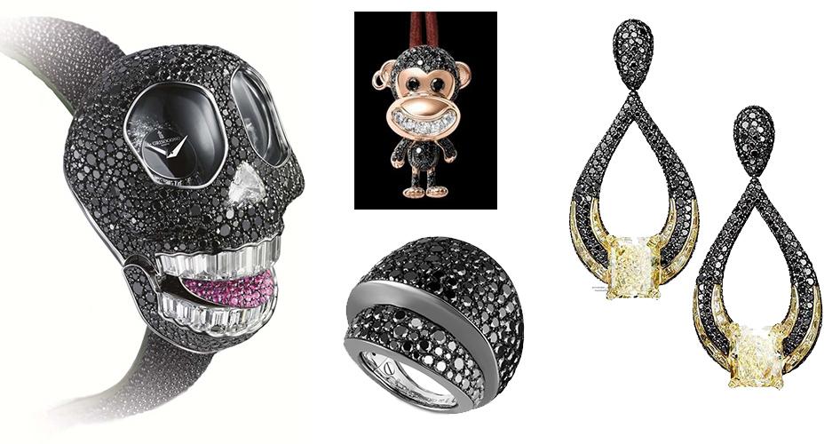 Черные бриллианты в ювелирных украшениях