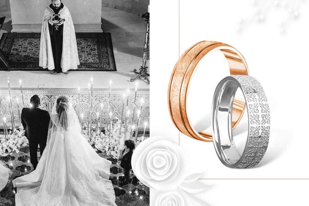 Венчальные кольца матовые