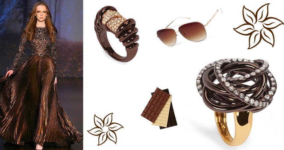 Шоколадное золото коричневое