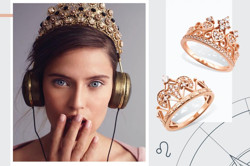 Кольца Короны золотые