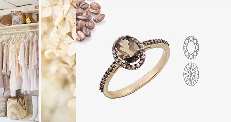 Овальная форма огранки камней в украшениях