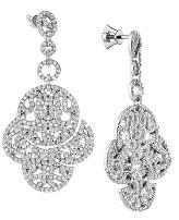 Золотые сережки с бриллиантами