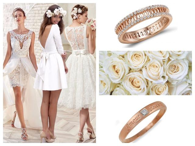 Свадебные кольца из красного золота