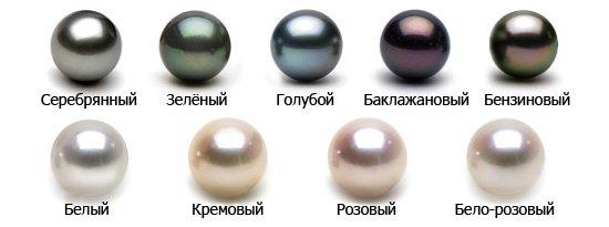 Жемчуг разных цветов