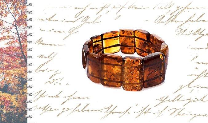 Женский браслет с янтарем