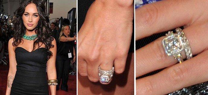 Меган Фокс с обручальным бриллиантовым кольцом