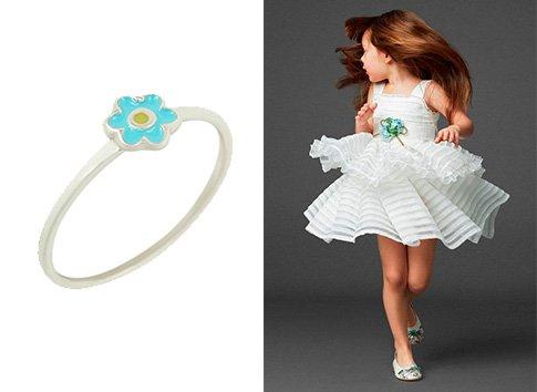 Детское кольцо с ювелирной эмалью