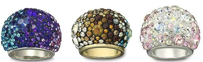Кольца с кристаллами Сваровски