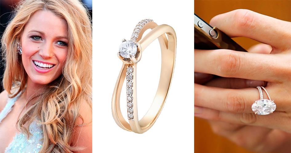 Обручальное кольцо из золота розового цвета Блейк Лайвли